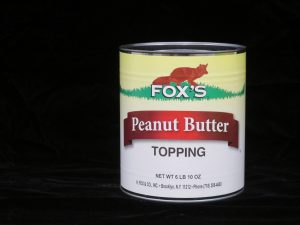 fox's peanut butter topping fx4009 lakeland confectionary