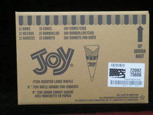 joy#7180 joy jacketed large waffle cone joy7180 lakeland confectionary
