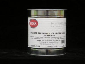 foss orange pineapple ice cream base fs20318 lakeland confectionary