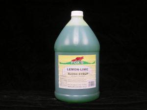 fox's lemon lime slush syrup fx1207 lakeland confectionary
