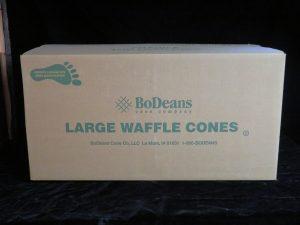 large jacketed waffle cone bdc902j lakeland confectionary
