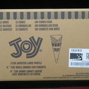 joy#7180 joy jacketed large waffle cone joy7180 lakeland confectionary