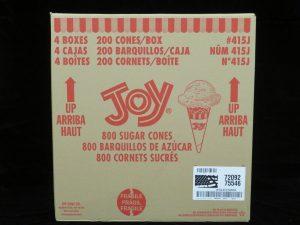 joy#415j joy jacketed sugar cone lakeland confectionary