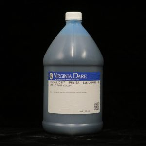 virginia dare art liq blue color dj17 lakeland confectionary