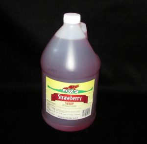 lakeland confectionary supply fx-1003-fos-strawberry-syrup-4-gal